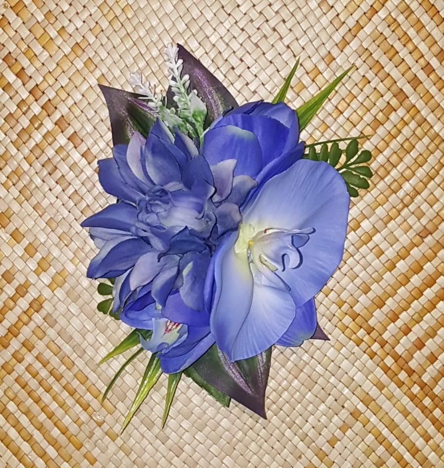 Wedding - Blue Dahlia Orchid Dream #1 for Tikiland Trading VLV Pinup Tiki Oasis