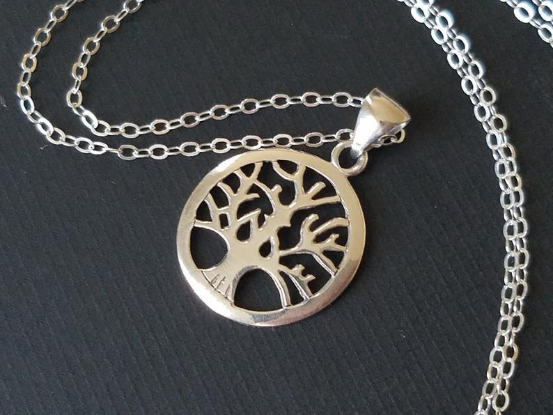 Wedding - Tree of Life Sterling Silver Necklace, Wedding Tree of Life Necklace, Mother of the Bride Gift Mother of The Groom Gift Tree of Life Jewelry