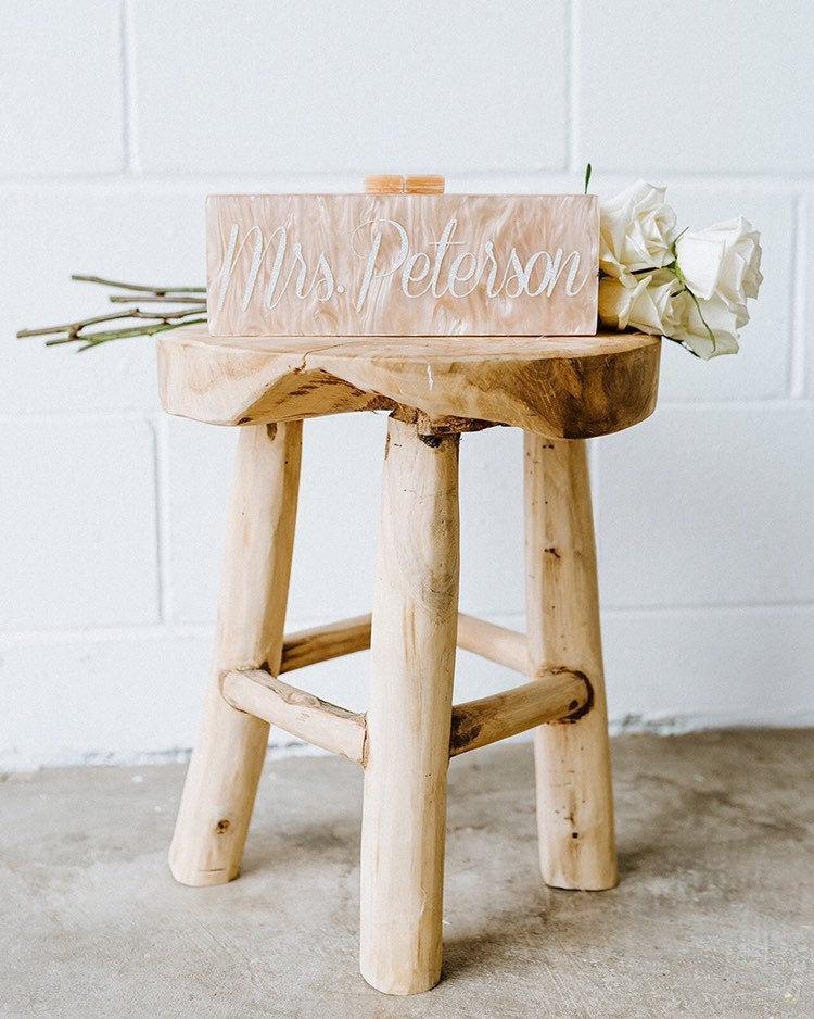 Wedding - Personalized Acrylic Clutch, Box Clutch, Custom Mrs. Clutch, Bridal Clutch, Custom Bride Clutch, Mrs. Purse, Acrylic Purse, Acrylic Clutch