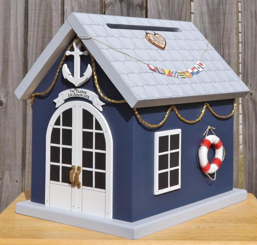Mariage - Nautical Wedding Card Box Boat House