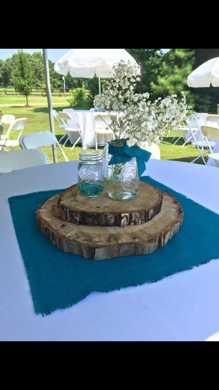 "Wedding - Colored Burlap Table Squares 12"" up to 18"" Burlap Centerpiece Burlap Wedding Decor Small Burlap Overlays Rustic Wedding Tables"