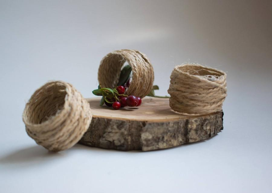 Wedding - Jute napkin ring, rustic napkin rings, twine napkin rings, jute napkin rings, handmade napkin ring, jute serviette rings, burlap napkin ring