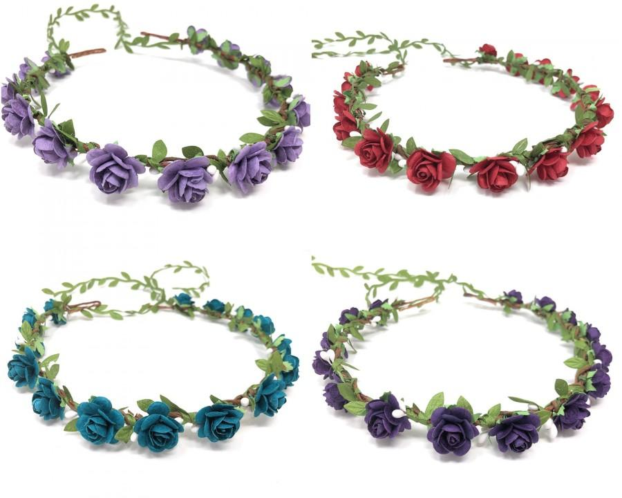 Mariage - Maternity flower crown, flower crown lavender, flower girl crown, flower crown kids, flower crown baby shower, flower girl headband