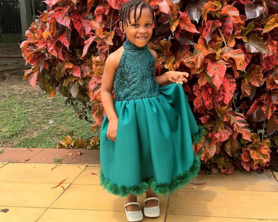 Mariage - Halter Neck Sequin Dress for Kids, Party Dress for Kids, Flower Girl Dress