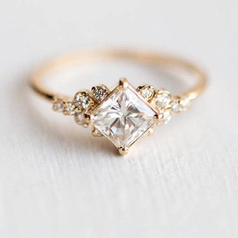 Свадьба - Gold Promise Ring, Engagement Ring, Birthday Gift for Her, Vintage Bridal Ring, Wedding Jewelry, Bridal Accessories, Anniversary Gift