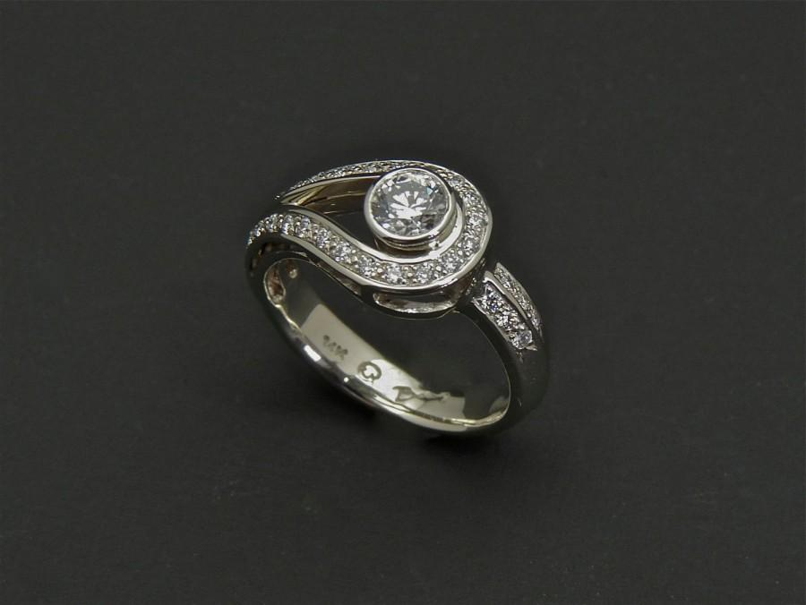 Wedding - Canadian Diamond ring, diamond engagement ring, gold diamond ring, wedding diamond ring, ethical diamond ring, engagement diamond ring, pavé
