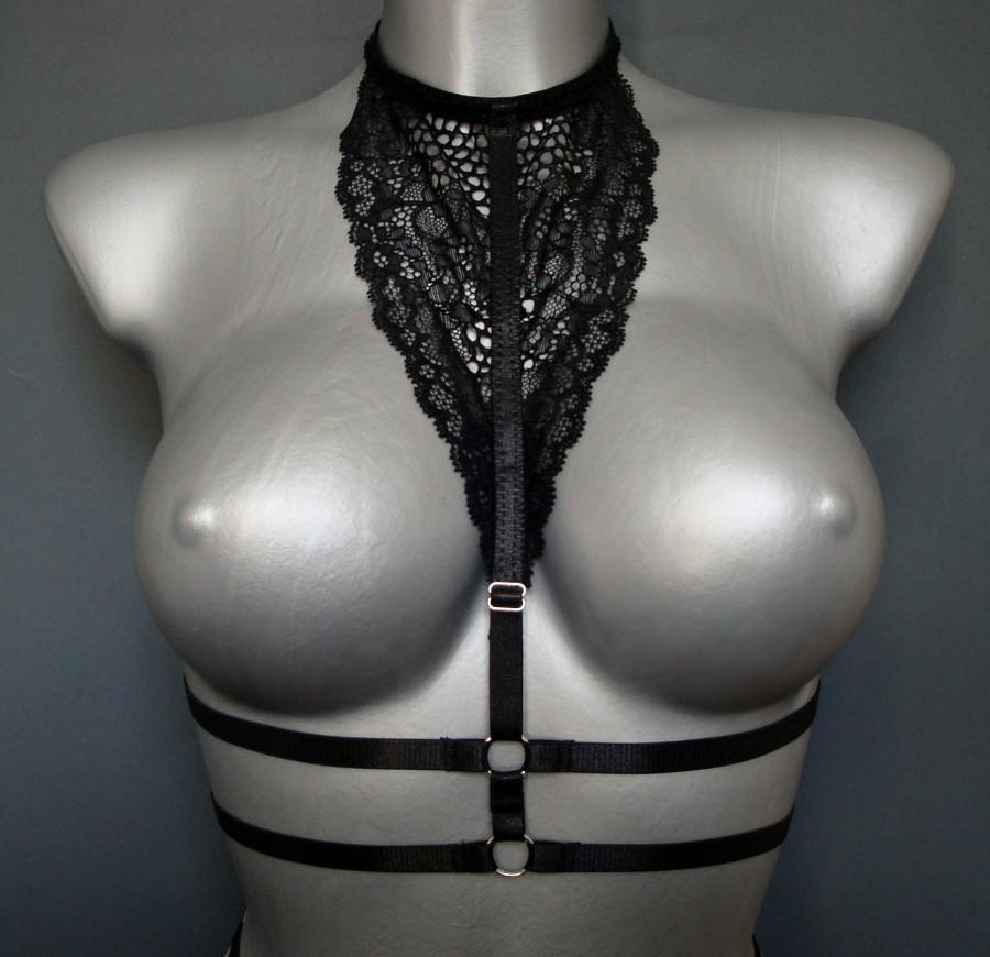 Свадьба - Black bra Open bra Harness bra Sexy bra Strappy bralette Erotic bra Fetish bra BDSM lingerie Mesh bra Intimates lingerie Bondage bra Shibari