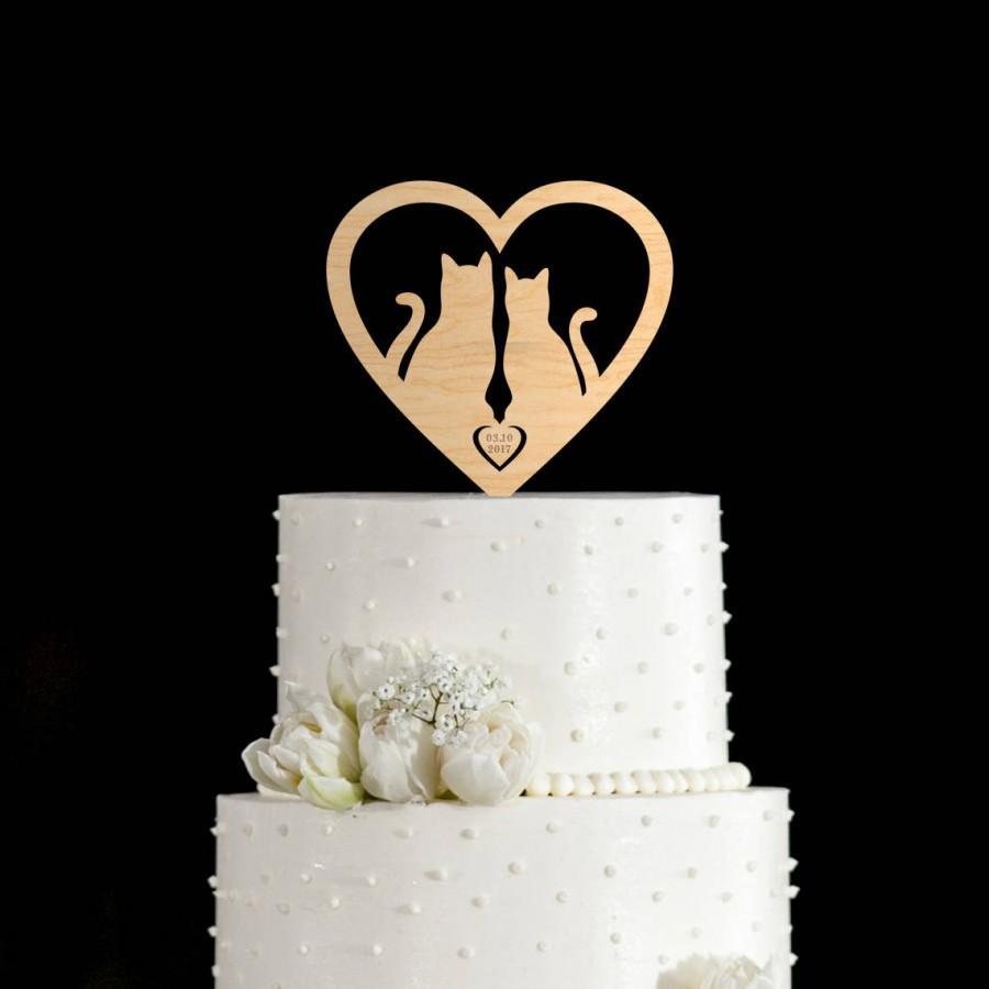 Hochzeit - Cat wedding cake topper,cat cake topper,cat cake topper wedding,cake topper cat,wedding cake topper,cake toppers for wedding,cake topper,650
