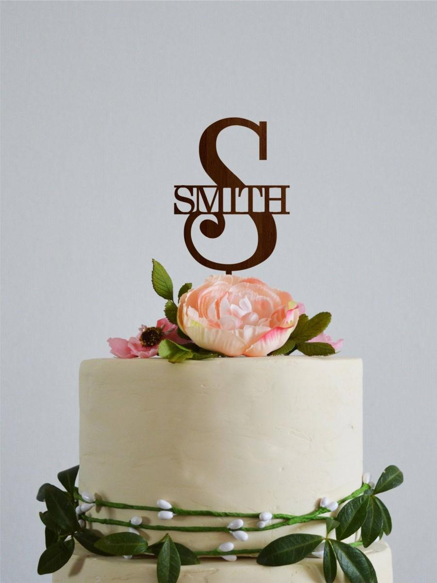 زفاف - Letter S cake topper, Monogram S cake topper, Smith wedding cake topper, Gold initial cake topper, Rustic monogram cake topper Gold monogram