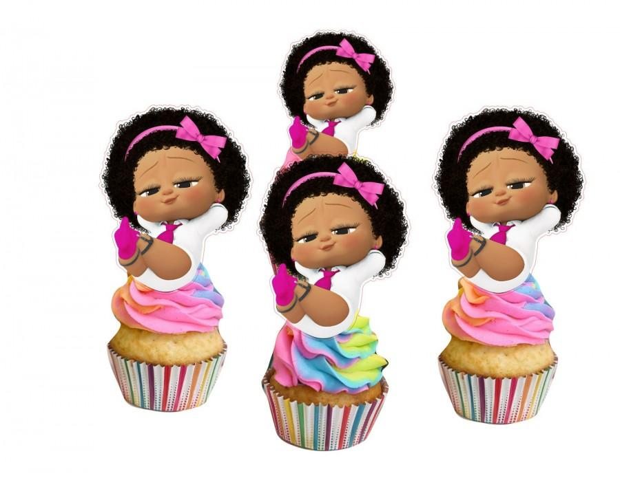 Свадьба - Baby Girl cupcake toppers,cakepop toppers,cupcake decors