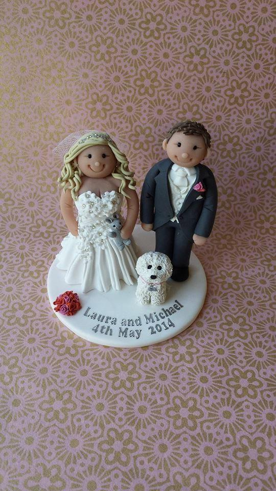Свадьба - Personalised Wedding Cake Topper - Bride & Groom *FREE SHIPPING*