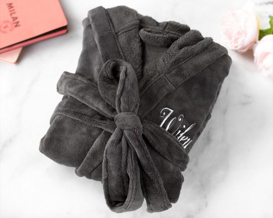 Свадьба - Personalized Gift for Her, Custom Women's Fleece Robe, Gift for Girlfriend, Wife, Monogrammed Robe for Her, Get Well Soon Gift Robe for Her