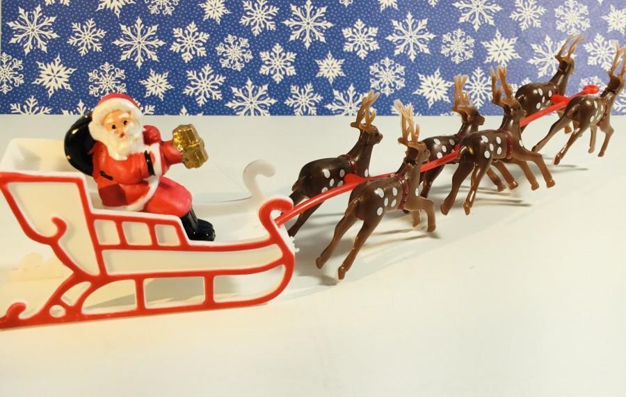 Hochzeit - Santa Claus Sled / Santa and Reindeer Sled / Santa Cakes / Christmas Model Train Layouts