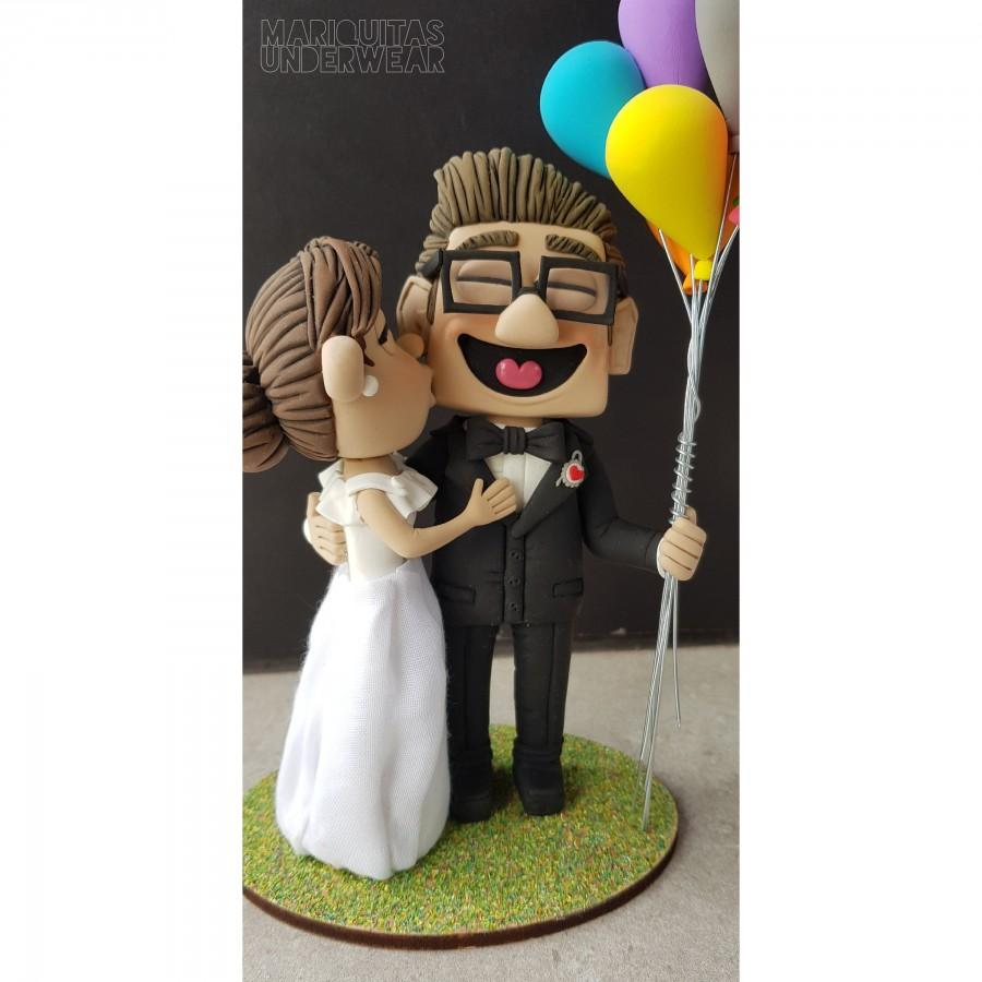 Mariage - Carl & Ellie Fredricksen Up Pixar Caketopper Wedding Doll