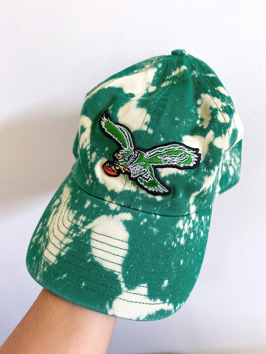 Wedding - Bleach Dyed Philadelphia Eagles OTS Brand Hat Retro