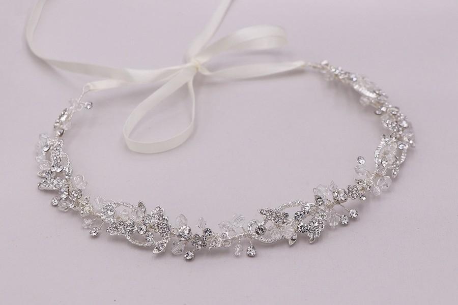 Свадьба - Crystal Wedding Headband, Wedding Hair Vine, wedding headpiece, Crystal Headpiece, Karina Wedding Headband