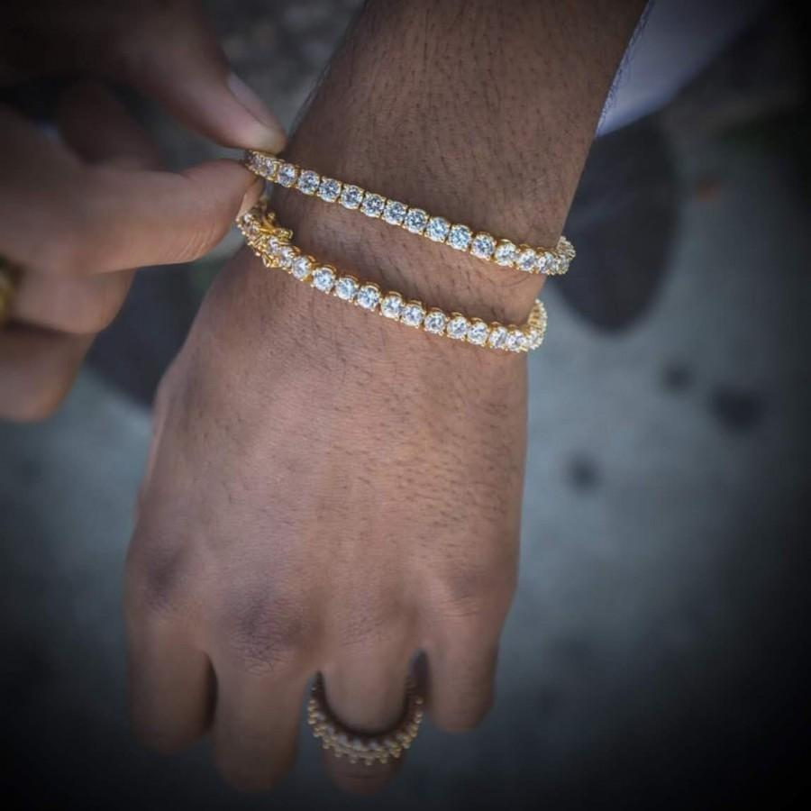 Mariage - Cubic Zirconia Tennis Bracelet, Bridal CZ Link Bracelet, AAA High Quality Crystal Jewelry, White Rhodium Plated,Diamond Cz Bracelet