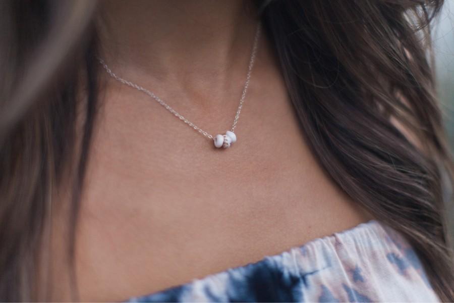Wedding - Puka Shell Necklace - Sea Shell Jewelry - Puka Choker - Beach Necklace - Shell Necklace - Beach Choker - Seashell Choker - Sterling Silver