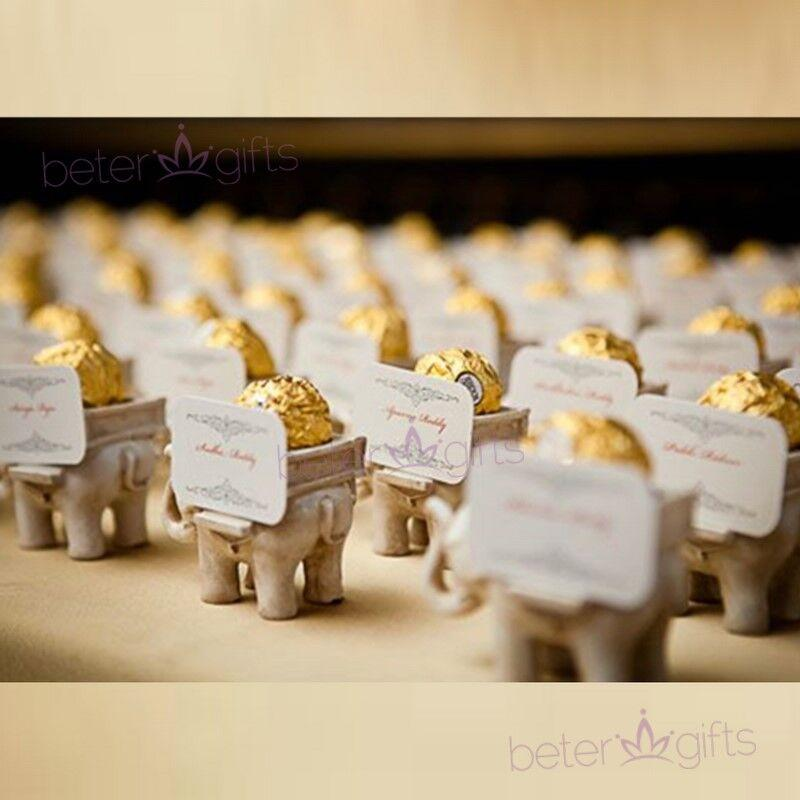 Mariage - Elephant #CandyBox Golden Wedding #Doorgifts #DIYdecoration SZ040