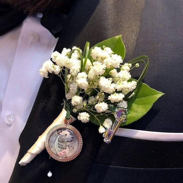 Hochzeit - Bouquet Photo Charm Rose Gold. Wedding Keepsake. Bridal Shower Locket Gift Idea. Pet Memorial Gift Christmas CHRISTMAS