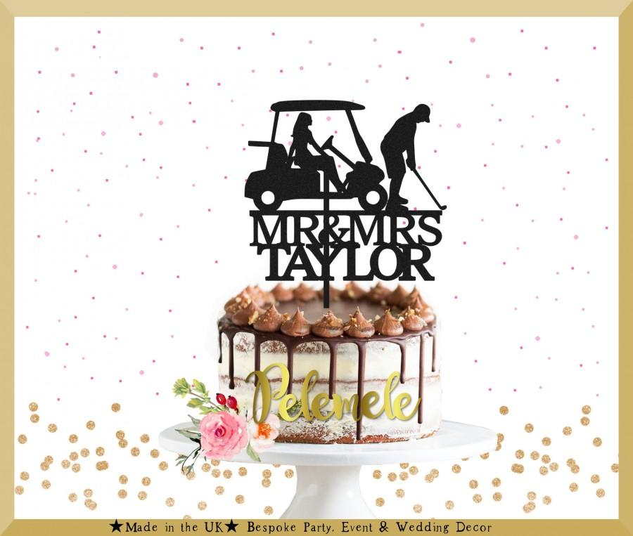 Mariage - Personalized Country Club Wedding Cake Topper - Golf Wedding Cake Topper, Golf Couple Cake Topper, Golfing Wedding Cake Topper, Golf Mr Mrs