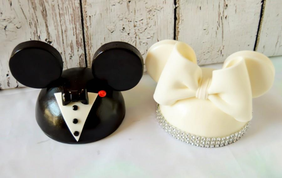Mariage - Mickey and Minnie Mouse Wedding Cake Toppers, wedding gift, Mickey and Minnie Cake Topper, wedding cake topper, wedding invitations, wedding