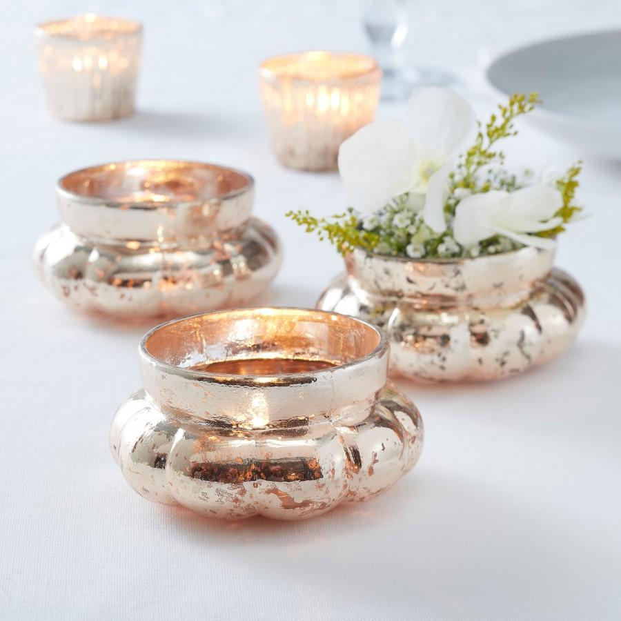 Hochzeit - Gold Large Frosted Tealight Holder, Candle Holders, Rustic Wedding Decorations, Venue Decorations, Wedding Table, Home Decorations, Xmas