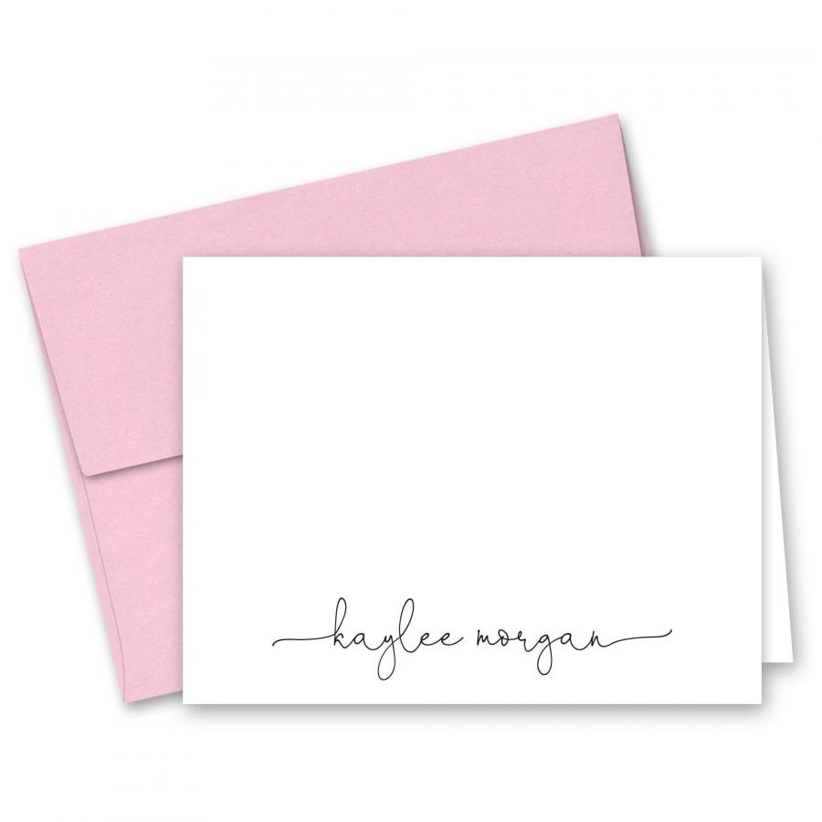 Hochzeit - Personalized Folded Note Cards Stationery - Set of 10 with envelopes
