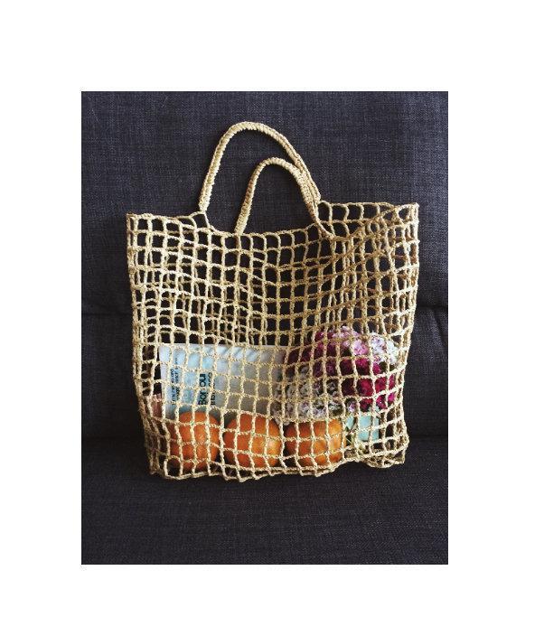 Mariage - Cécile Handmade Raffia Net Market Tote Bag Beach Bag