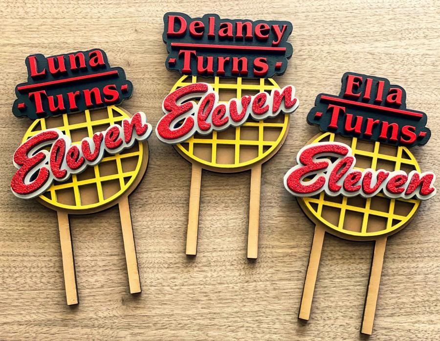 Wedding - Stranger Things Cake Topper - Eleven Birthday - Personalized Cake Topper - Birthday Cake Topper - Stranger Things Birthday Theme