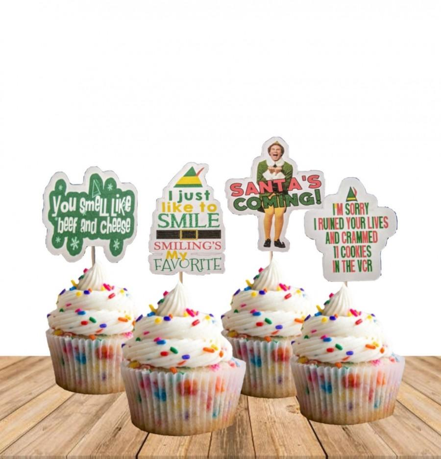 Свадьба - Elf Movie Cupcake Toppers