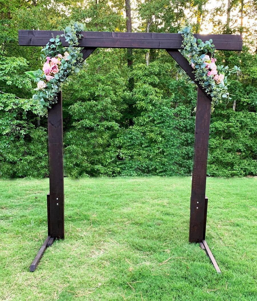 Hochzeit - Reversible Wedding Wood Arch Rustic Arbor for DIY Wedding Backdrop