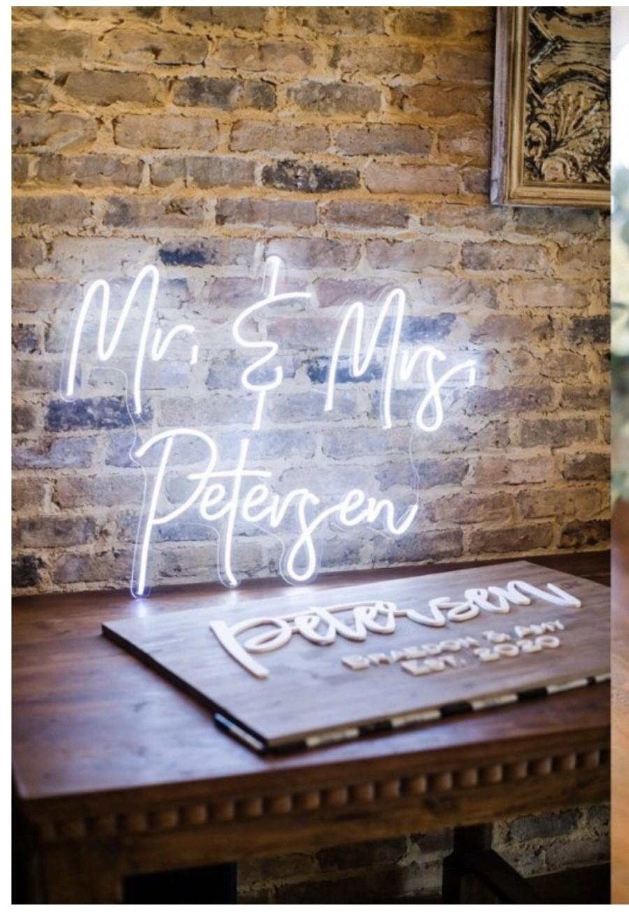 Hochzeit - Wedding Neon Sign , Custom Neon Sign , Neon Sign