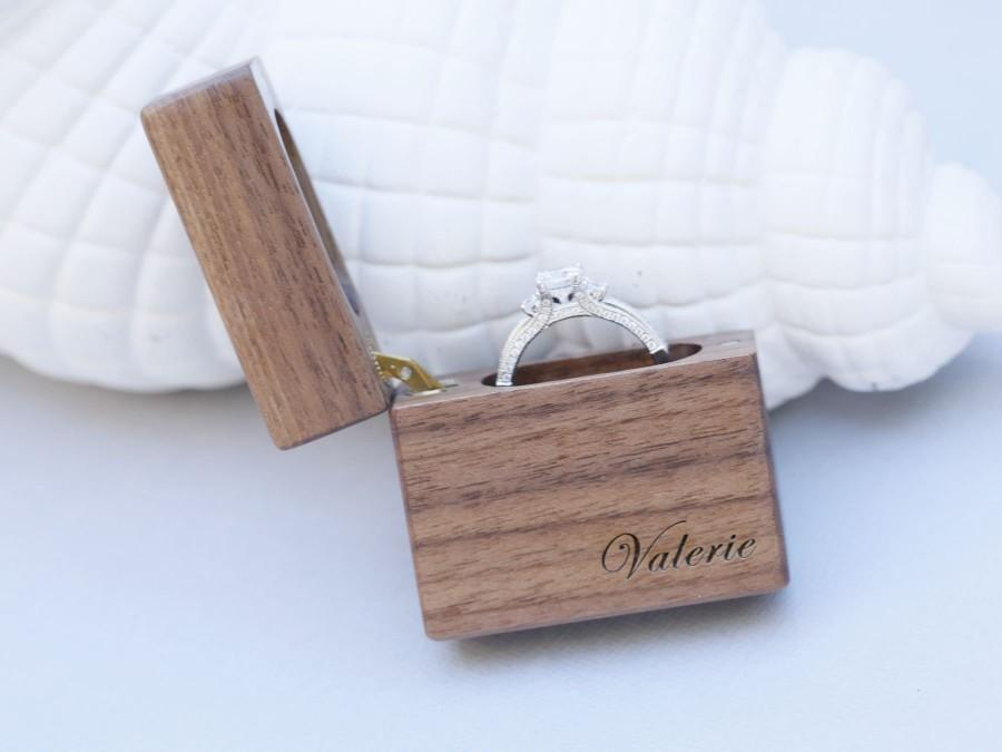 Wedding - Wedding Ring Box, Wood Ring Box,Walnut Ring Box, Wooden Ring Box,Proposal ring box, Engagement Ring Box, Engagement Ring Holder