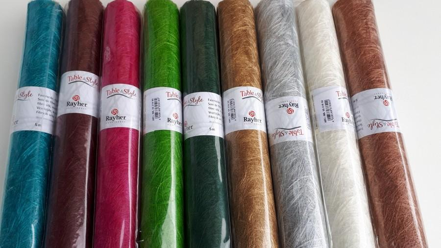 Свадьба - Fiber silk: Modern, 30 cm, roll 5 m Table and Style in different colours