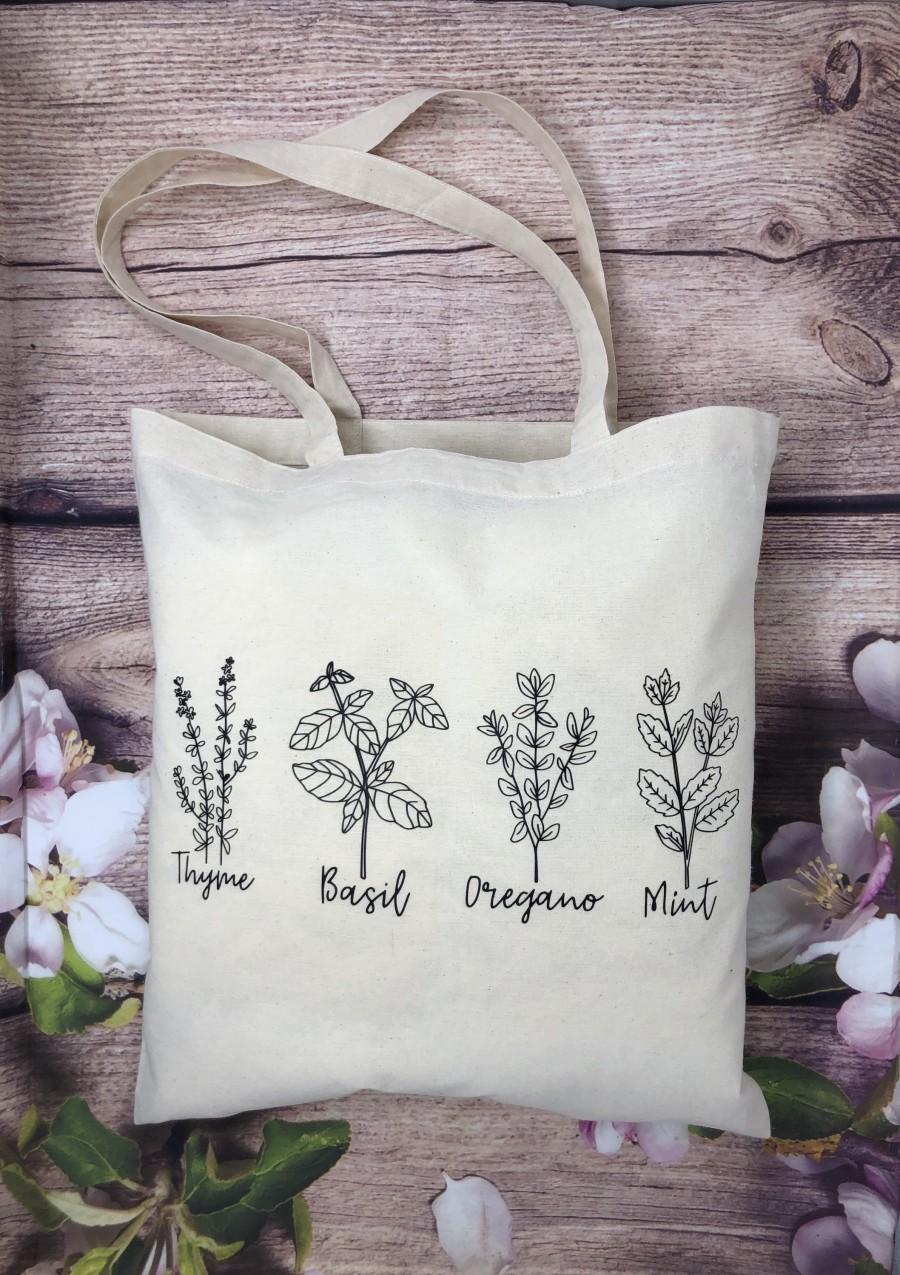 Свадьба - Wildflower Canvas Tote Bag, Shoulder Bag, Cotton Bag,