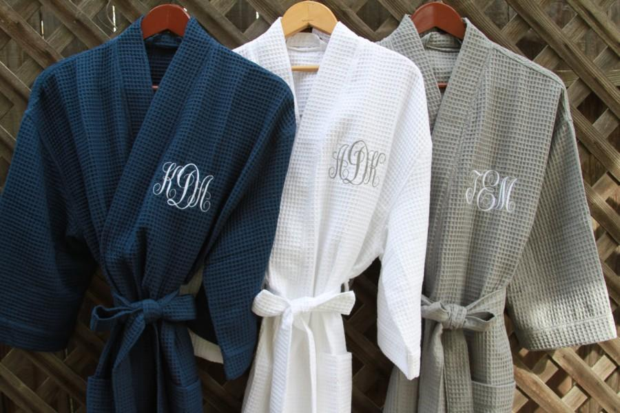 Wedding - PERSONALIZED Robes RUSH Ship, BRIDAL Party Robes Women's Robes Available in 10 Colors, 3 Sizes; Over 30 Fonts; Single & Multi Orders Welcome