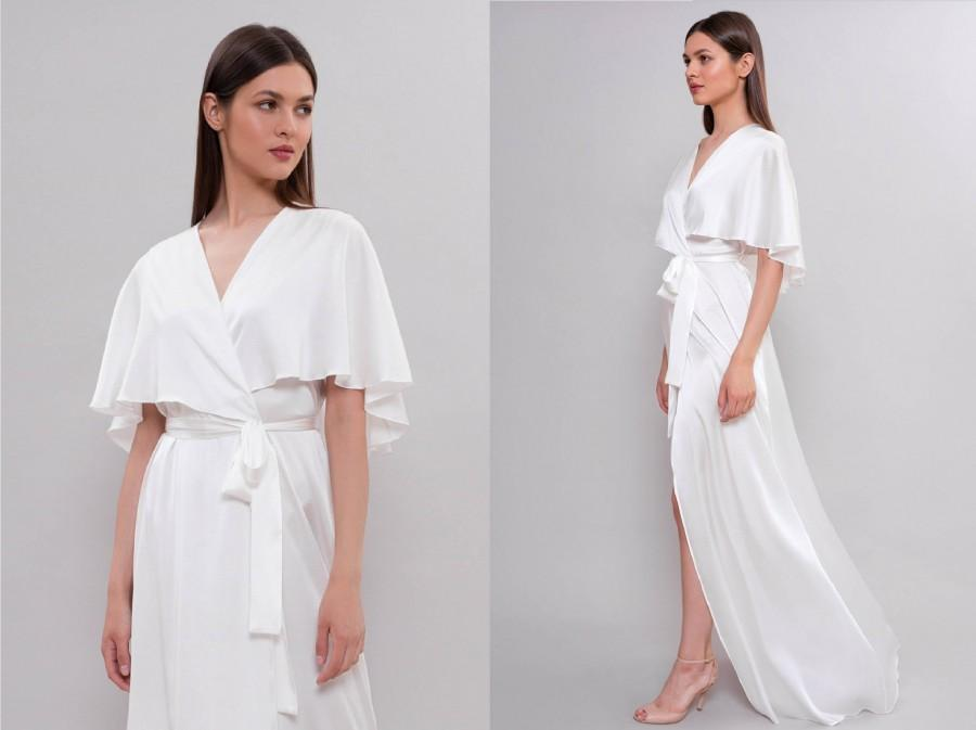 Hochzeit - Long Silk Bridal Robe F30, Bridal Lingerie, Wedding Lingerie, Long Bridal Robe, Silk Robe, Long Robe, Gift for the Bride, For Her