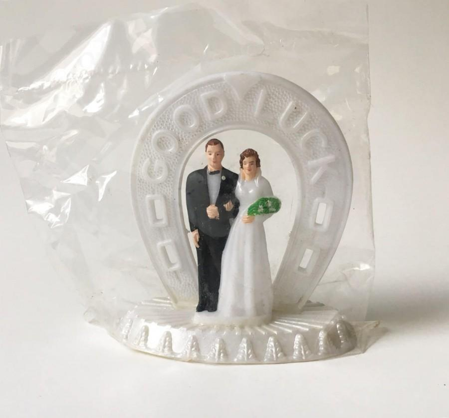 Свадьба - Cake Topper Bride and Groom Topper Wedding Cake Topper Vintage New Old Stock Good Luck cake topper 1960s New in package