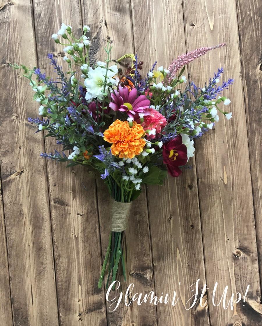 Свадьба - Colorful Wildflower Bouquet