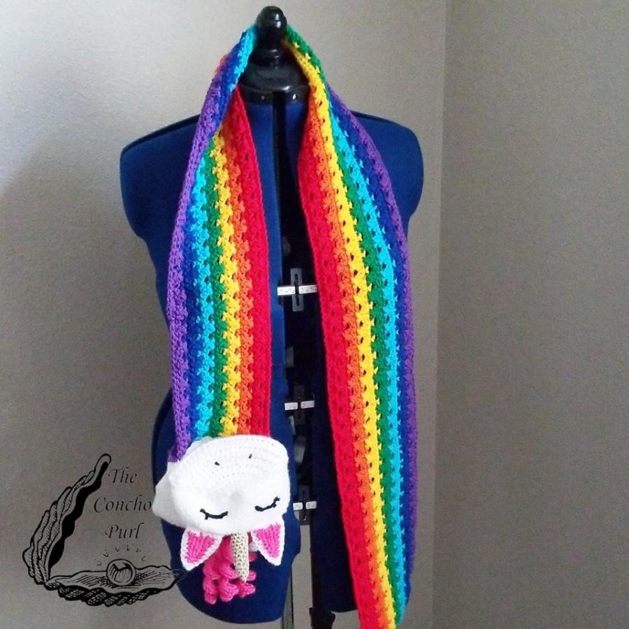Hochzeit - Unicorn Rainbow Barf or Poop Scarf - Companion Pattern