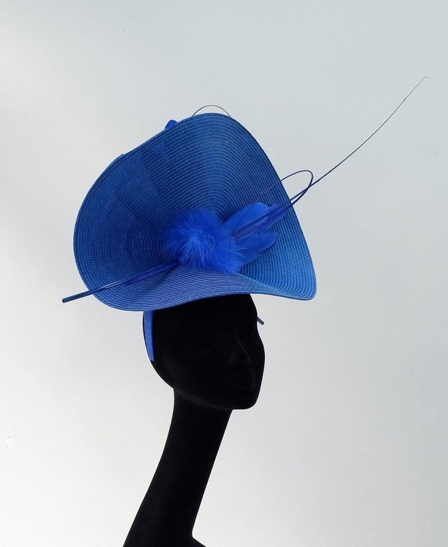 Wedding - Swift - Sapphire Blue Fascinator by Hats2go