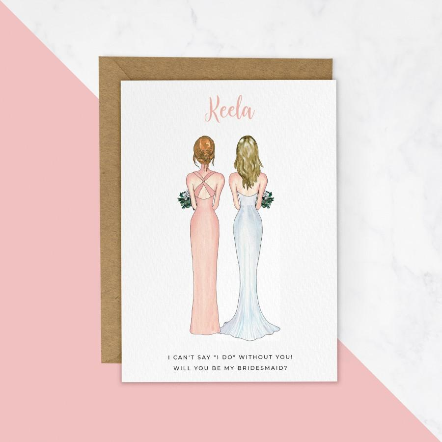 Hochzeit - Will You Be My Bridesmaid Cards, Bridesmaid Proposal Cards, Gifts, Bridesmaid Cards, Thank You Bridesmaid Gift, Bridesmaid Proposal #472