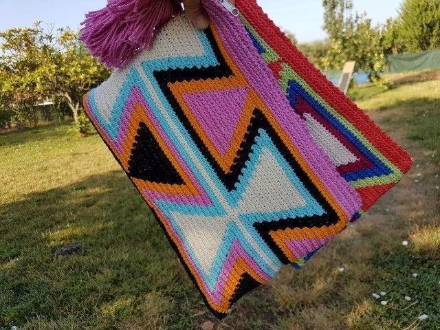 Hochzeit - Wayuu Mochila cotton Clutch