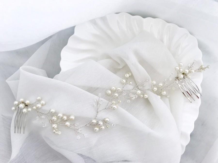 Hochzeit - Wedding hair piece bridalheadpiece bridal hair comb wedding hair accessory wedding wreath peigne  cheveux marriage bridal hair piece