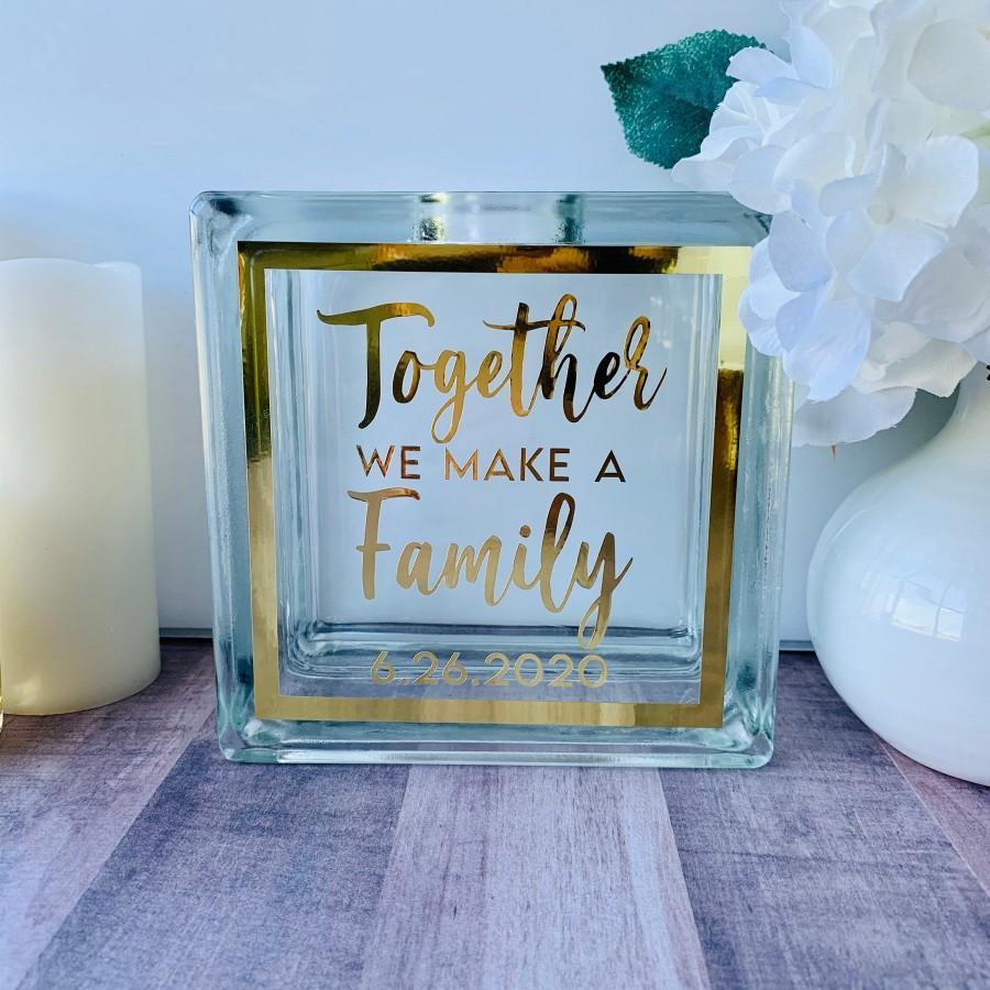 Wedding - Sand Ceremony Set for Wedding, Modern Together We Make A Family, Unity Candle Alternative, Wedding Decor Sand Unity Glass Set - Custom Color