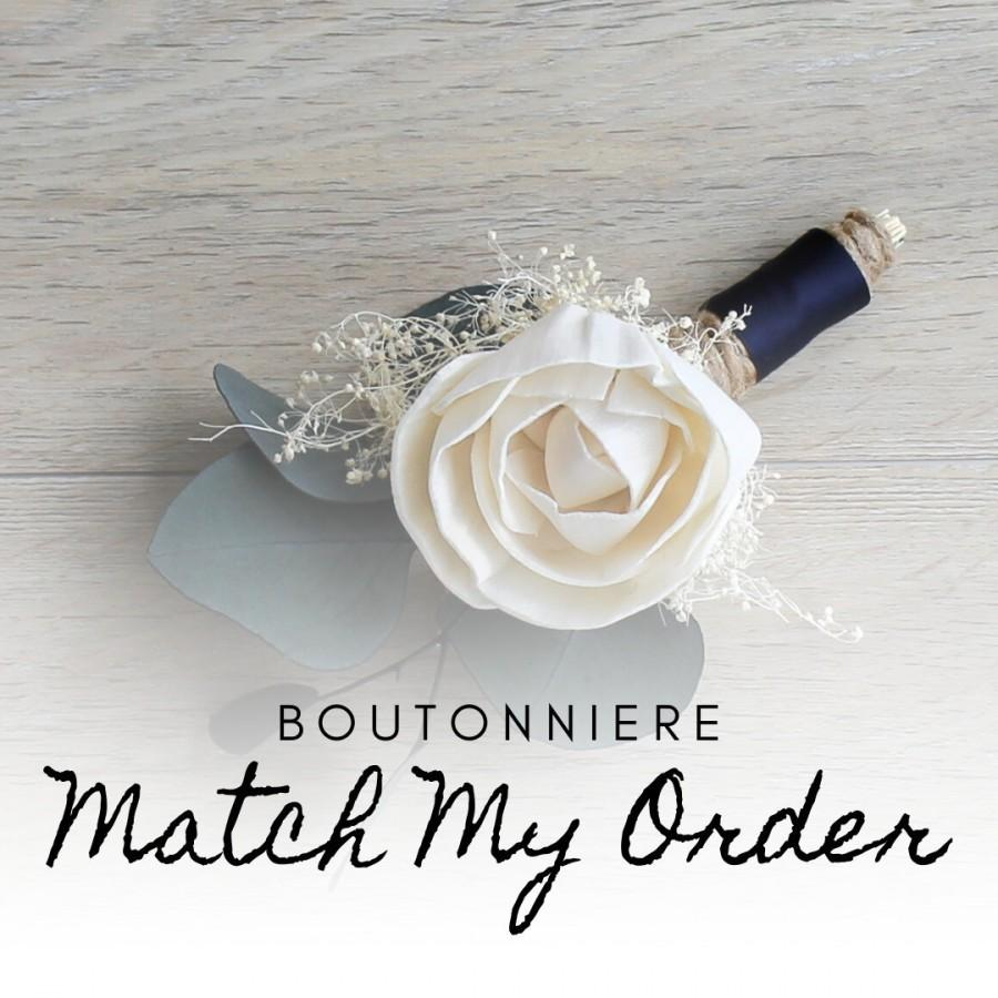 Mariage - Sola Wood Flower Boutonniere - Made to Match Your Order
