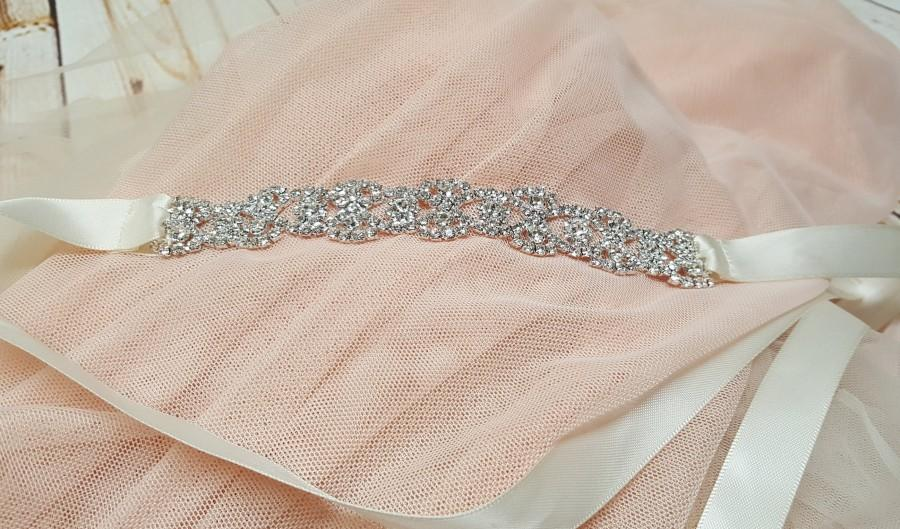 Wedding - Rhinestone and Satin or Organza Hair Wrap  Bun Wrap - Bridal Headpiece, Flower Girl, Ballerina, Bridesmaid, Mother of the Bride