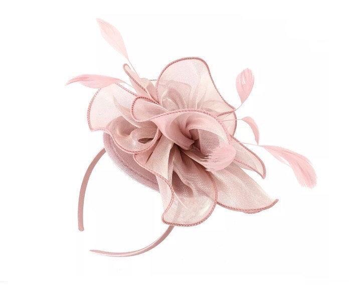 Wedding - Blush Fascinator, baby pink Fascinator, nude Fascinator hat, light pink Fascinator, Fascinators, Fascinator hat, blush derby hat, ascot hat