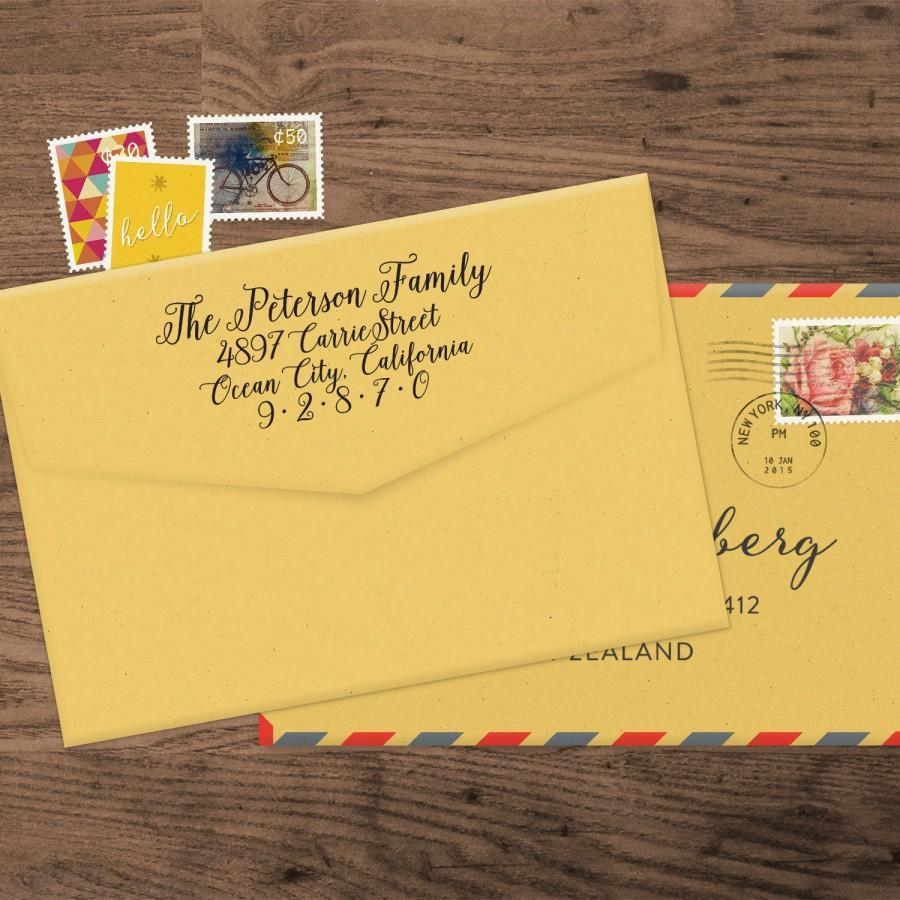 Wedding - CUSTOM SELF INKING Address Stamp, Custom Address Stamp, Return Address Stamp, Custom Stamp, Logo Stamp, Wedding Stamp, Housewarming Gift 142